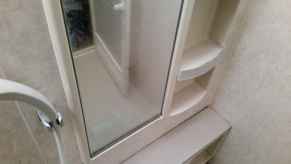 相模原市浴室クリーニング鏡ウロコ除去