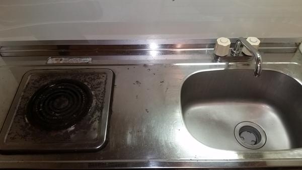 青梅市ミニキッチン換気扇クリーニング